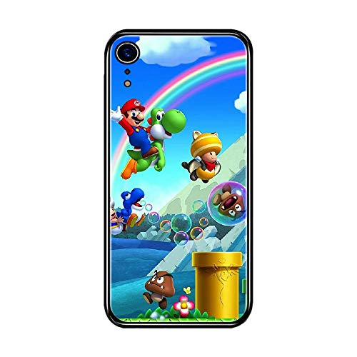 OR iPhone 5 / iPhone 5S / iPhone SE Case Super Mario Brothers Black Silicone Phone Case Soft Touch Protective Cover E-010
