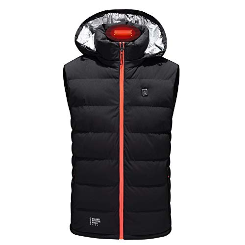 Review Dainzuy Men's Heated Vest Electric Body Warmer Unisex Heating Vest Jacket Sport Outdoor Cloth...
