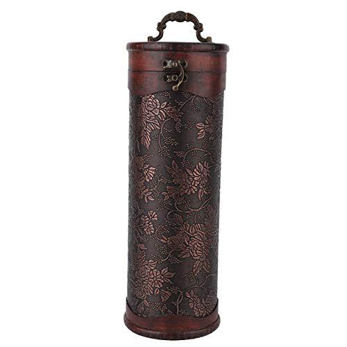 Clasken Caja de Vino Tinto Vintage, útil Caja de Vino Tinto Individual portátil, para Bebidas de reunión, Regalos de Negocios