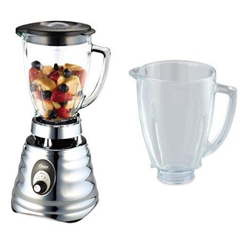 Oster - Batidora de vaso Clásica 600W y jarra de vidrio redonda - 0004655ESP + BLSTAJ-G00