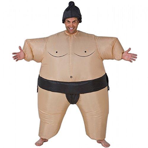 Aufblasbares Sumo Ringer Kostüm Fasching Karneval