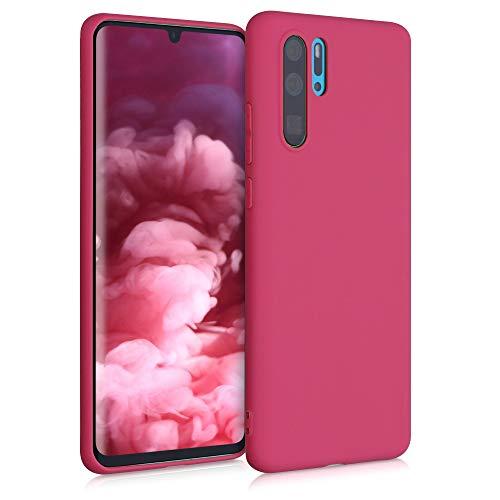 kwmobile Custodia Compatibile con Huawei P30 PRO - Cover in Silicone TPU - Back Case per Smartphone - Protezione Gommata Fucsia Matt