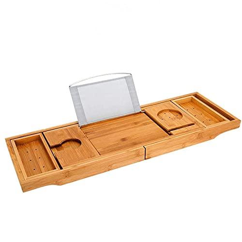 Wede Caja De Almacenamiento De Caja De Almacenamiento De Bañera con Libros O Tableta De Madera