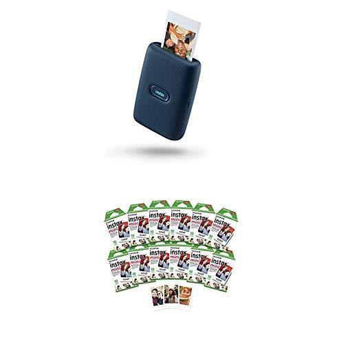 Fujifilm Instax Mini Link Smartphone Printer - Dark Denim + w/120-pack