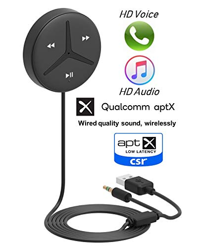 Aston Innovations HiFi Bluetooth Car Kit Qualcomm aptX Sound Android & iPhone Handsfree Calls Music Streaming Bluetooth Receiver/Adaptor for Car SUV and Truck.SoundTek A2+