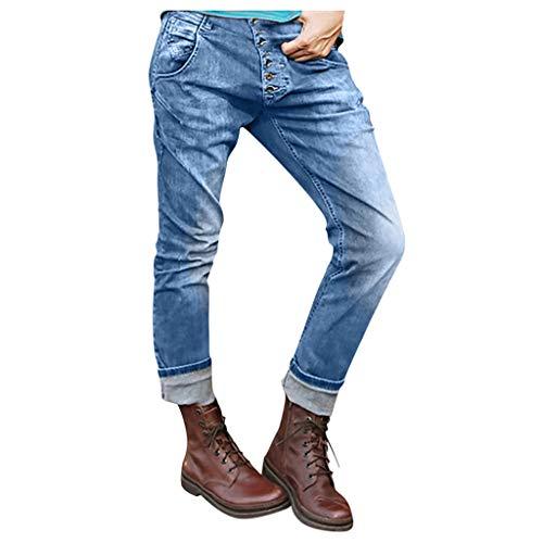 Sporthose Reissverschluss Jeans Damen Unterhosen Männer Damen Cargohosen Damen Jeans Kurze Hose Damen Damen Haremshose High Waist Jeans Damen Radlerhose Damen Hosenrock(Blau,S)