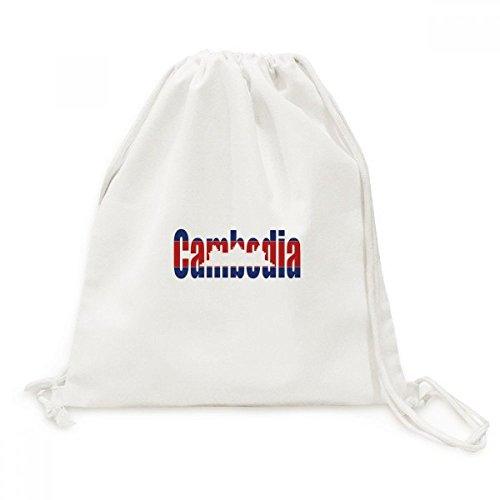 DIYthinker Kambodscha Land Flag Name Canvas-Rucksack-Reisen Shopping Bags