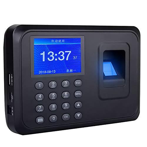 """AMAO USB Máquina de Asistencia Biométrica de Huella Dactilar, 2.4"""" TFT LCD Display Sistema Español DC 5V / 1A Reloj de Tiempo Registrador Control de Acceso empleados Checking-in Reader, 1000 Usuario"""