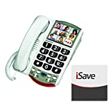 Clarity P300 Picture Landline Telephone with iSave Micro-Fiber Cloth