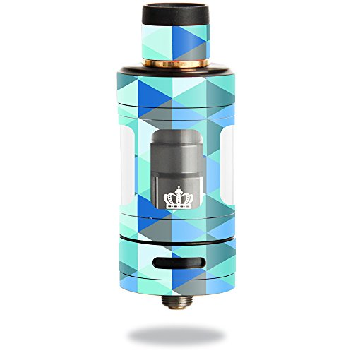 MightySkins Skin Compatible with Uwell Crown 3 Tank – Blue Kaleidoscope | Protective, Durable, and Unique Vinyl Decal wrap Cover | Easy to Apply, Remove, and Change Styles | Made in The USA
