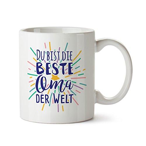 Partycards Tassen als Geschenkidee mit verschiedenen Motiven - Kaffebecher (Beste Oma der Welt, 300ml)