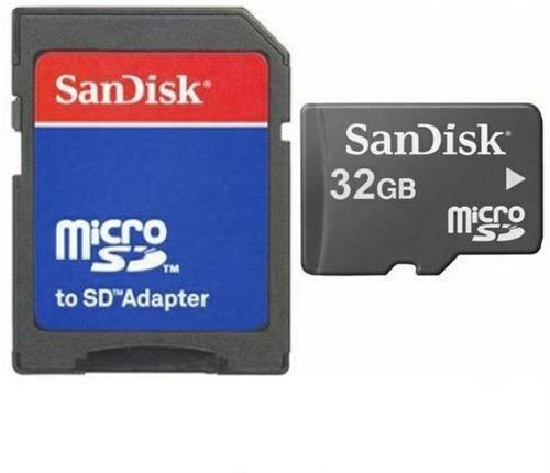 32GB Micro SD SDHC Speicherkarte Karte Memory Card + SD-Adapter für Kodak Ektra, Lenovo B C2 K5 K6 Note Power Moto E3 G 4 Play Plus Moto Z Force Play P2 Phab 2 Plus Pro, Meizu M3 Max M5c Pro 6