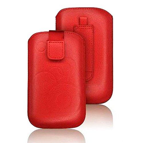 tag-24 Handy Tasche Deko Etui Schutzhülle passend für Wiko LUBI 3 rot