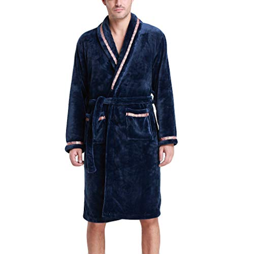 Heren Winter Verlengde Hooded Badjas Fleece Dressing Jurk Fluffy Bad Robe Housecoat Volledige Lange Slaapmode Nachtjas Verlengd Pluche Sjaal Badjas Lange Mouwjas