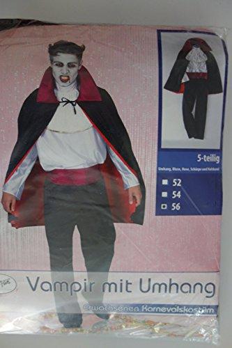 Vampirkostüm mit Umhang 5-teilig (52)
