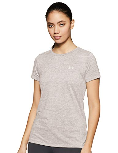 Under Armour Tech Short Sleeve-Twist Camiseta, Mujer, (Pitch Gray(015), S