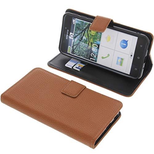 foto-kontor Tasche für Emporia Smart 3 Book Style braun Schutz Hülle Buch