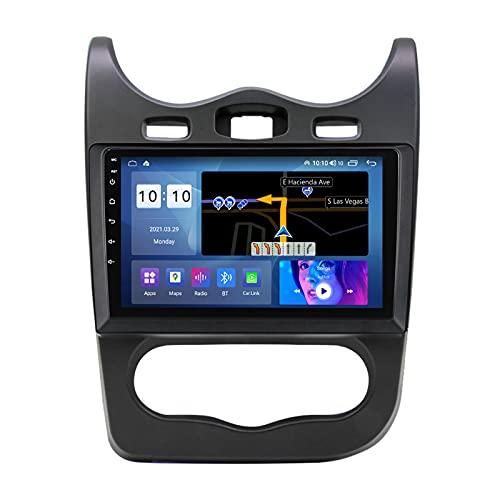 10' Pantalla Táctil Automóvil De Audio Para Automóvil Doble Din FM/AM Radio Para Renault Sandero 2013 2014,Mirror Link/Cámara De Respaldo/Control Del Volante/WIFI/Ventilador De Enfriamiento,M500s