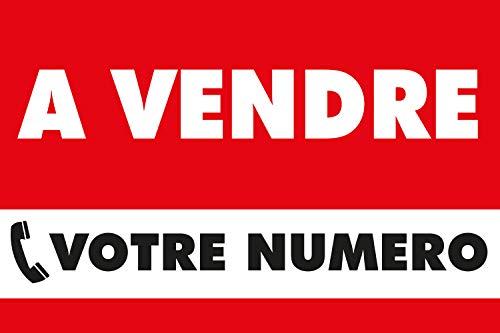 Panneau personnalisable à Vendre - PVC alvéolaire 3,5mm - 600x400mm (Rouge)
