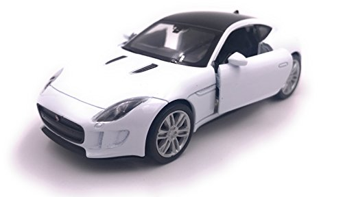 H-Customs Jaguar F Type Modelauto gelicentieerd product 1:34-1:39 / wit