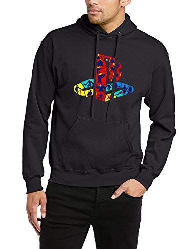 Playstation Retro Hoodie PS Logo Game Controller Gift Graphic PSP Unisex Hoody (XL) Bl