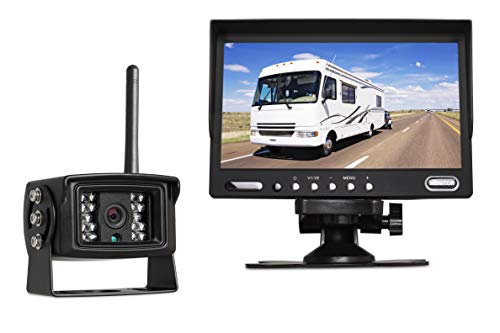 Auto-Vox Digital Wireless Backup Camera System MW3 with 7' HD Back Up Monitor, Sony CCD Super Night Vision Camera IP 68 Waterproof Rear View Camera for Trucks, Any Gigantic Vehicles, Farm Trailer&RV