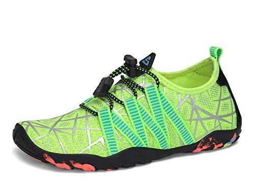SAGUARO Zapatos de Agua Escarpines para Niños Secado Rápido Zapatillas de Playa Piscina Verde 25