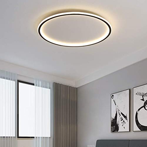 LED Deckenlampe Moderne Deckenleuchte Wohnzimmer Lampe Ring Designer Metall Acryl Beleuchtung Schlafzimmer Küche Esszimmer Lichter (warm light, 60cm)