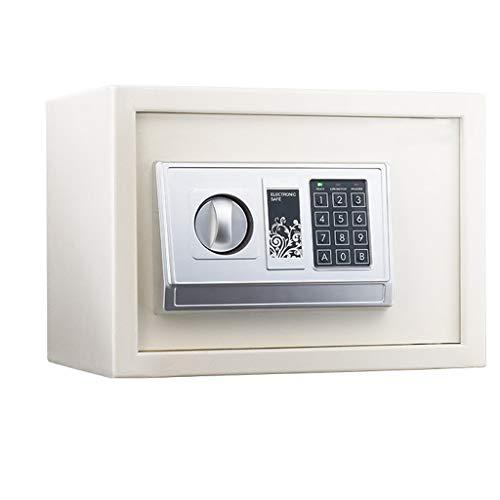 Veiligheid elektronische dubbellaagse kluis, vaste inbouw, witte sleutelkast, 35 x 25 x 25 cm, opbergdoos
