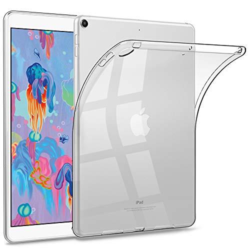 HBorna iPad 9.7 Clear Case for iPad 2018/2017 Model, 6th/5th Generation iPad case, Ultra Slim Transparent Soft TPU Rubber Silicone Back Cover Skin for Apple iPad 9.7 Inch (iPad 5, iPad 6) - Clear