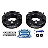Supreme Suspensions - Front Lift Kit for 2007-2020 Chevrolet Silverado 1500 and GMC Sierra 1500 3' Front Lift Billet Aluminum Strut Spacers 2WD 4WD (Black)