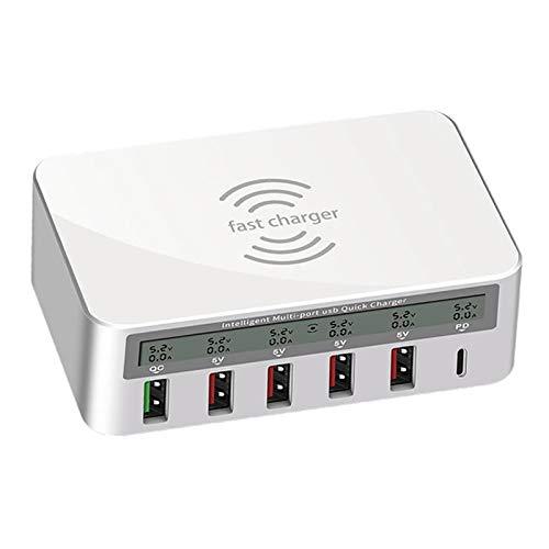 balikha Adaptador de Carga Inteligente con Cargador USB de 6 Puertos para Varios Teléfonos Móviles
