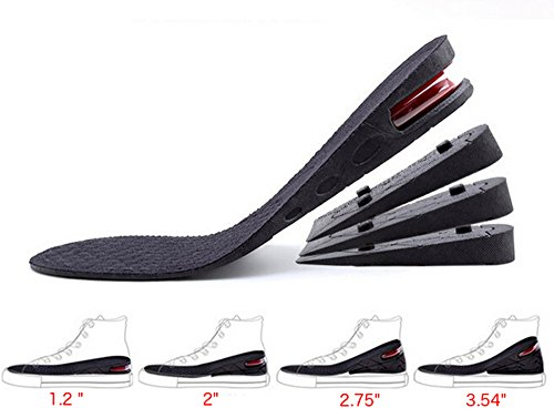 Height Increase Insoles, 4-Layer Orthotic Heel Shoe Lift kit with Air Cushion Elevator Shoe Insole Lifts Kits Inserts for Men & Women Taller Insoles 1.2