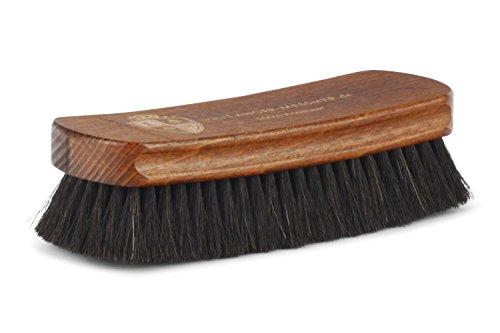 Langer & Messmer Schuhbürste aus dunklem Rosshaar zum Polieren Ihrer Schuhe - Die Polierbürste für die professionelle Schuhpflege