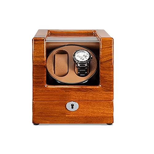 SGSG Enrollador de Reloj para 2 Relojes automáticos 5 Modos de rotación Motor Extremadamente silencioso Cuero de Fibra de Carbono Almohadillas tridimensionales para Relojes Adecuado para muñecas