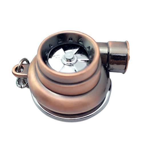 Mumaya Mini Llavero con turbocompresor Turbo, Llavero con Anillo de Cadena, Llavero con Llavero de turbina giratoria, Llavero con Llavero de Coche, Accesorios de Coche para Hombres