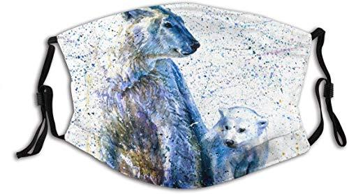 Face Cover Polar-bear Pattern Face Cover Cloth Balaclava Outdoor Face Decorations