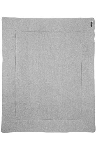 Meyco 2793004 Laufgittereinlage - Boxmatratze - Spieldecke - 100% Baumwolle Feinstrick KNIT Basic Grau 77x97cm