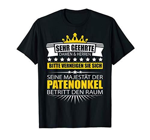 Herren Patenonkel Shirt Geschenk Pate Onkel Sprüche Geburtstag T-Shirt
