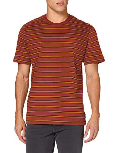 Only & Sons ONSMEL Life REG SS Stripe tee Noos Camiseta, Granate, S para Hombre