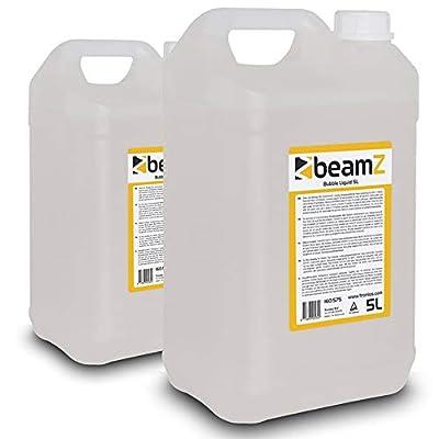 beamz Bubble Machine Liquid 5L Bottle Fluid Pack (x2)