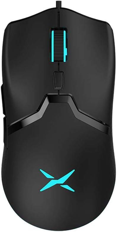 DELUX Gaming Mouse 16000 dpi Ultra Ligero Programable Ergonómico Mouse para PC Laptop 6 Botones (M800BU 3389)