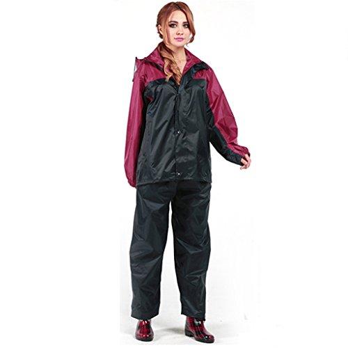 Vestes anti-pluie QFF Ensemble Raincoat Adult Outdoor Split Imperméable Hommes et Femmes Couple Travel Ride Poncho Thicker Keep Warm (Taille : XL)