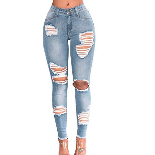 Luandge Pantalones Vaqueros elásticos con Levantamiento de glúteos adelgazantes para Mujer XL