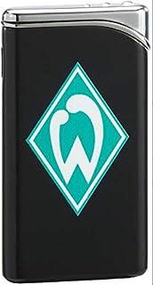 SV Werder Bremen Feuerzeug Metall  gratis Sticker Bremen Forever - Logo Piezozündung schwarz