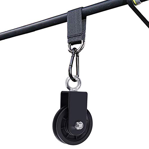 Silent Pulley Cable Pulley 360 Degree Rotation Traction Wheel for LAT Pulley System DIY Attachment Home Gym Accessories Lifting Blocks Hoists Ladder Lift Home Projects Clothesline Shop Lifts (3.54in)