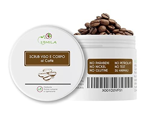 Scrub Kaffee Body Peeling, Natürliches Kaffee-Körperpeeling, made in Italy Top-Qualität, Anti-Cellulite-Peeling