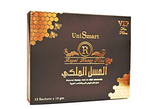 UNISMART – ROYAL PLUS – Afrodisíaco – Booster Energy y resistencia para el hombre – Potencia y virilidad – Estimulante 100% natural.