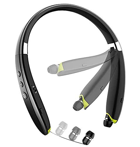 Bluetooth Headphones, BEARTWO Upgraded Foldable Wireless Neckband Headset...