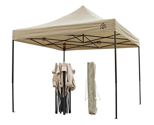 AllSeasonsGazebos Choice Of Colours, 3x3m Heavy Duty, Fully Waterproof, PVC Coated, Premium Pop Up Gazebo, Wheeled carry bag + 4 Leg Weight Bags